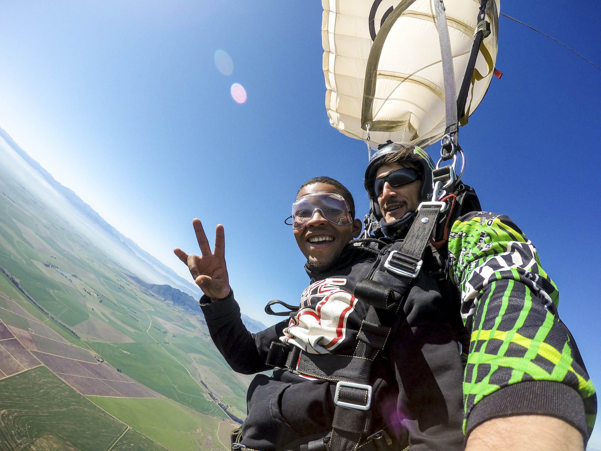a report on skydiving First-time skydivers report being more motivated, more confident, more focused  and more generally joyful in their daily lives after making a jump.